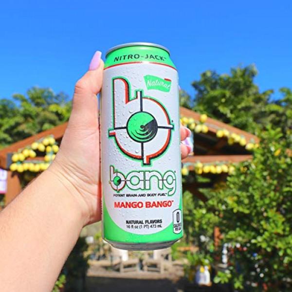 Bang Natural Mango Bango Energy Drink, 0 Calories and Sugar Free...