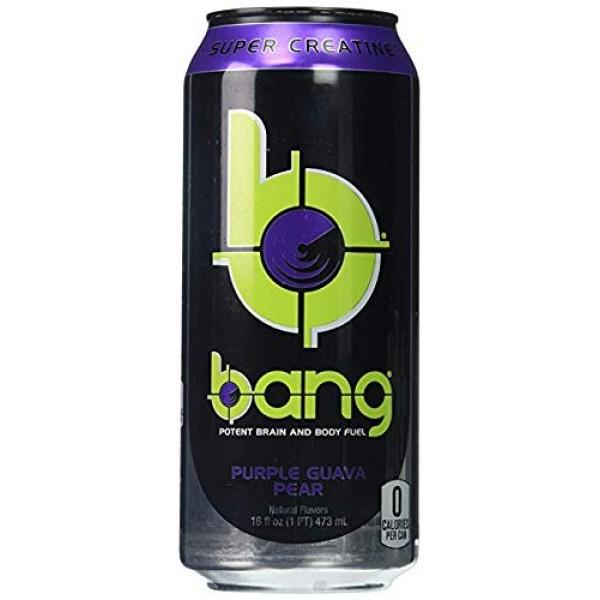 Bang Energy Drinks - 6, 16 ounce cans Purple Guva Pear