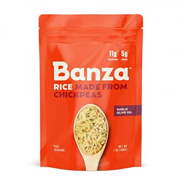 Banza Chickpea Rice, High Protein Low Carb Healthy Rice, Gluten-...