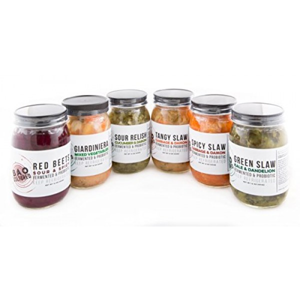 Cultured Vegetables, 16 oz x 6-Pack, Mixed Case