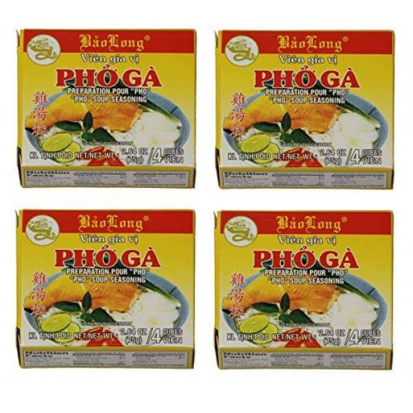 2.64oz Bao Long Pho Ga Chicken Soup Seasoning Cubes Pack of 4