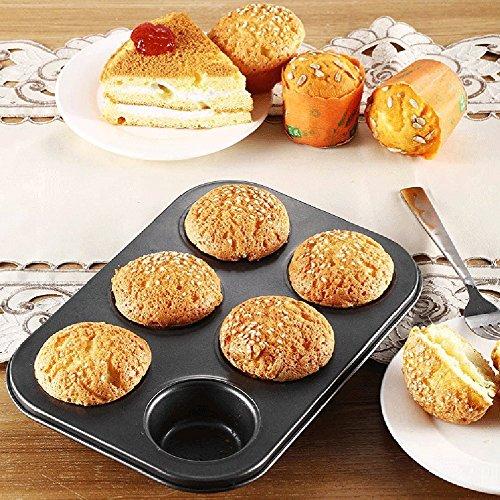 Cake Mould,Baomabao 6 Cups Mini Pan Mold Muffin Bun Cupcake Baki...