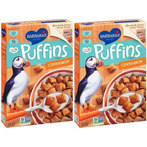 Barbaras Barbaras Puffins Cinnamon, 10 oz, 2pk