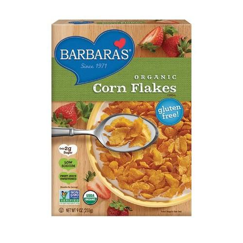 Barbaras Bakery Organic Corn Flakes -- 9 oz - 2 pc