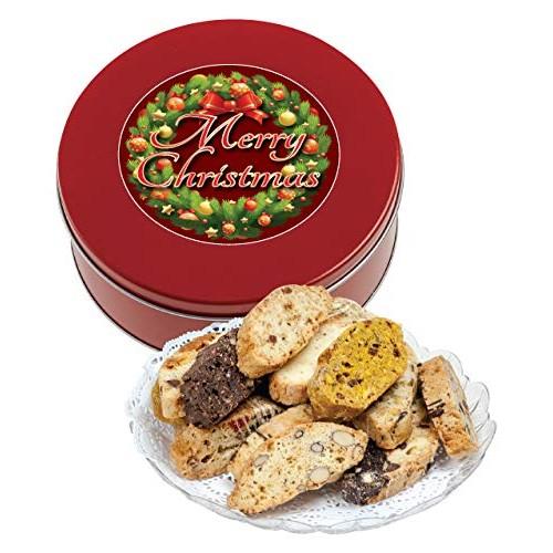 Christmas biscotti - 1lb tin