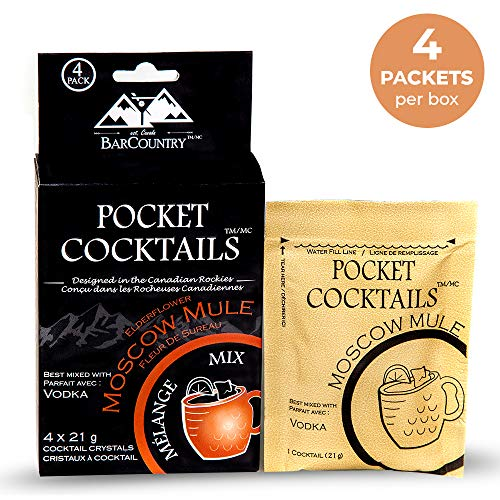 BarCountry Moscow Mule Alcoholic Drink Mixes – All Natural, Low ...