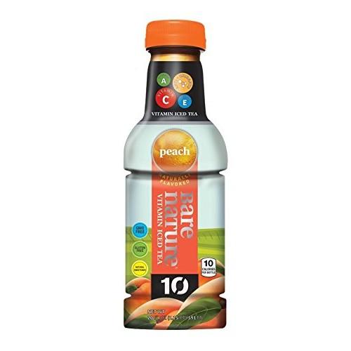 BARE NATURE 10 Vitamin Iced Tea - Peach 12 ct, 20 fl oz.