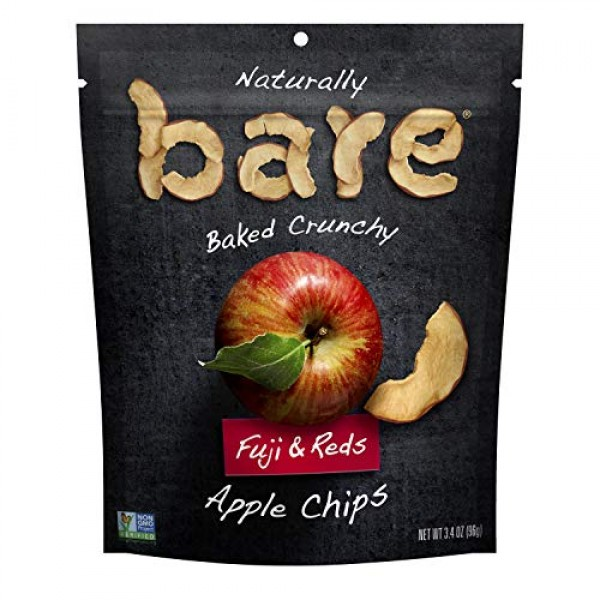 Bare Fruit Naturally Baked Crunchy, Fuji & Reds Apple Chips, 3.4 oz