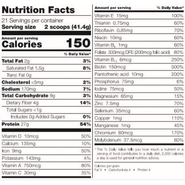 Bariatric Fusion Meal Replacement Protein 21 Serving Tub French ...