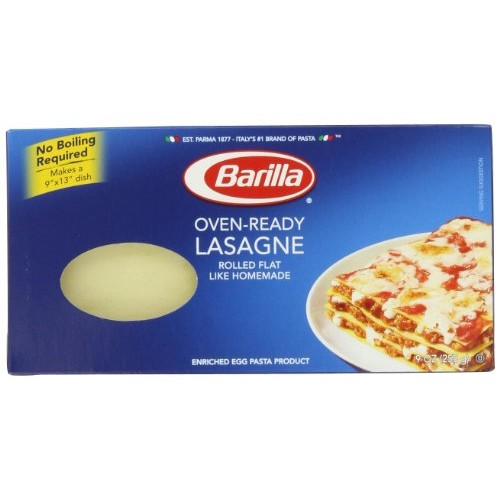 Barilla Pasta, Oven-Ready Lasagne, 9 Ounce Pack of 4