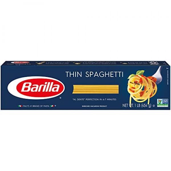BARILLA Blue Box Thin Spaghetti Pasta, 16 oz. Boxes Pack of 20...