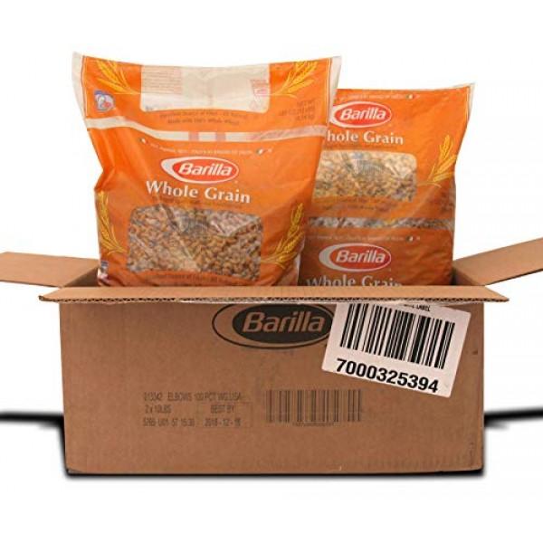Barilla Elbows 100 Percent Whole Grain Pasta, 160 Ounce -- 2 per...