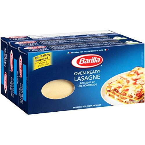 Barilla Oven Ready Lasagne Pasta | Meat Based Cream Based or Veg...