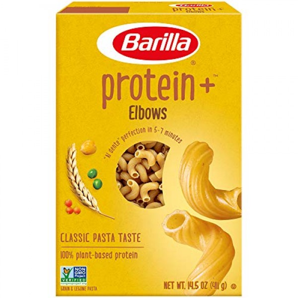 Barilla Protein Plus Elbows Pasta, 14.5 Ounce
