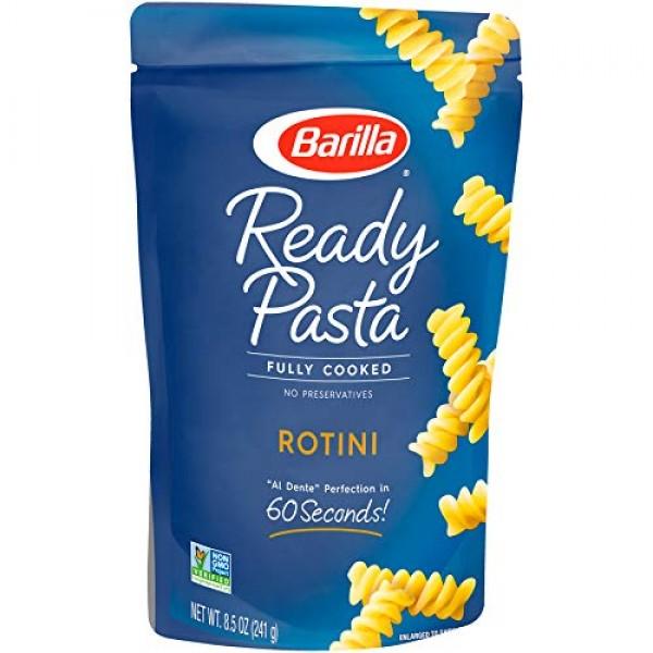 Barilla Ready Pasta, Rotini Pasta, 8.5 Ounces Pack of 6