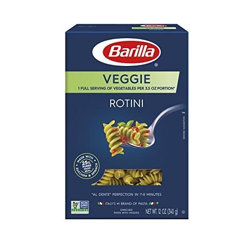 Barilla Veggie Pasta, Rotini Pasta, 12 Ounce Pack of 8