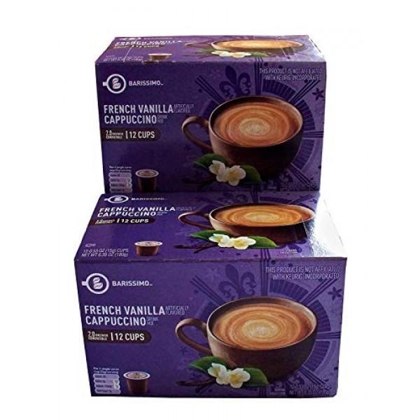 Barissimo French Vanilla Cappuccino Coffee Cocoa Pods 2 Pack K-C...