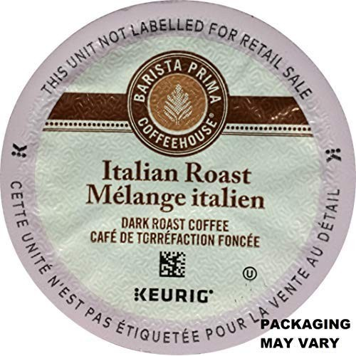 Barista Prima Italian Roast Coffee K-Cup, 96 Count Packaging Ma...