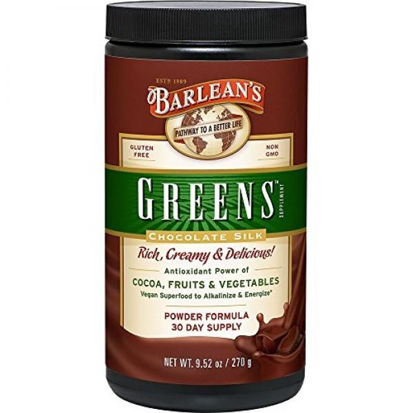 Barlean's Greens, Chocolate Silk, 9.52-oz