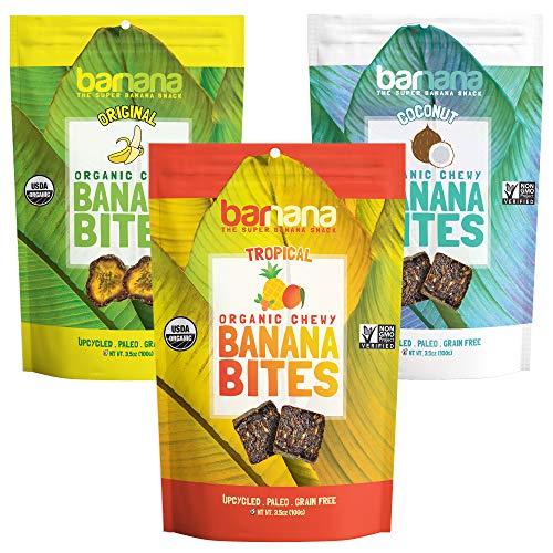 Barnana Organic Chewy Banana Bites - Variety - 3.5 Ounce, 3 Pack...