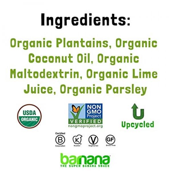 Barnana Organic Plantain Chips - Acapulco Lime - 5 Ounce, 8 Pack...