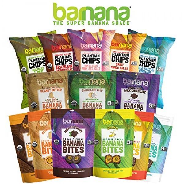 Barnana Organic Plantain Chips - Himalayan Pink Salt- 5 Ounce, 3...