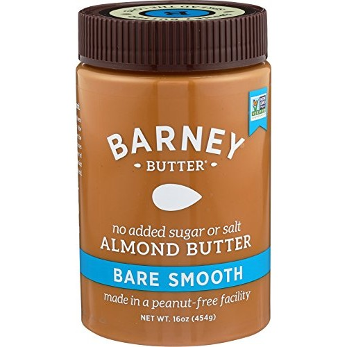 Barney Butter Almond Butter, Bare Smooth, 16 Ounce Pack of 3