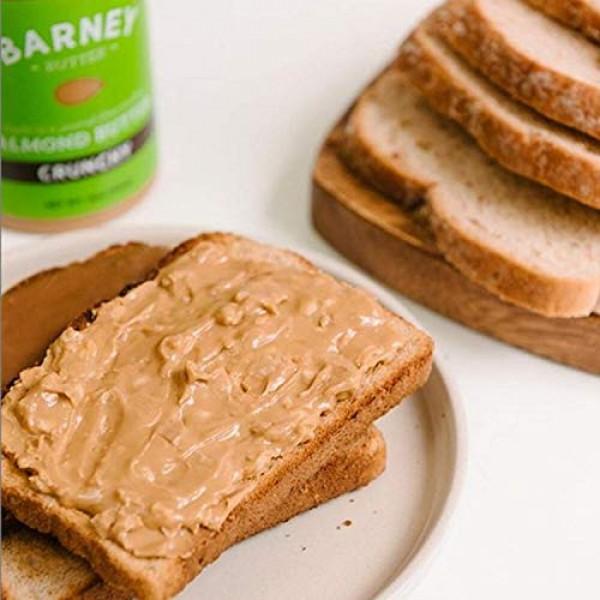 BARNEY Almond Butter, Crunchy, No Stir, Non-GMO, Skin-Free, Pale...