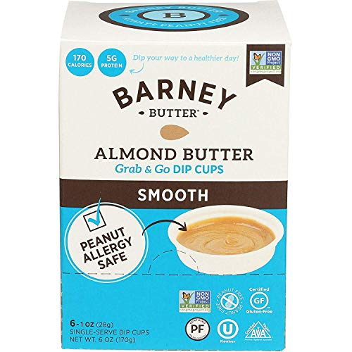 Barney Butter Almond Butter Dip Cups, Smooth, 6 Count Pack of 6