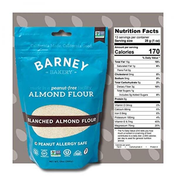 BARNEY Skin-Free Almond Flour, Paleo, KETO, Non-GMO, Peanut-Free...