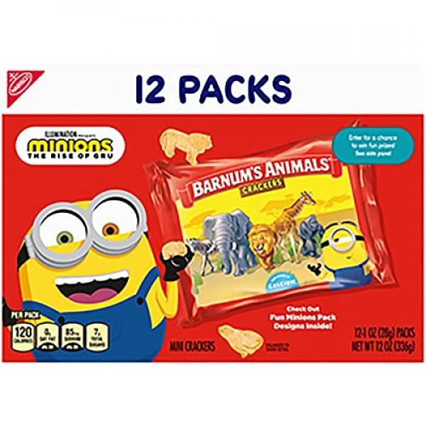 Barnums Original Animal Crackers, 12 - 1 oz Snack Packs