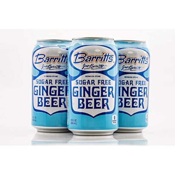 Barritts Sugar Free Diet Ginger Beer, Non-Alcoholic Soda Cockta...