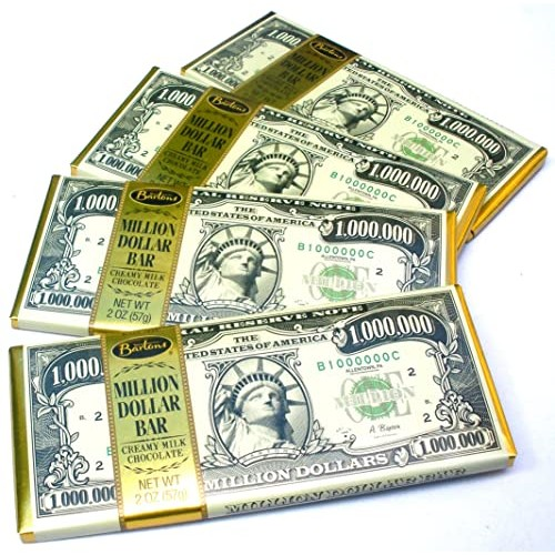 Chocolate Lovers Pack Of 4 Million Dollar Bill Currency Themed M...