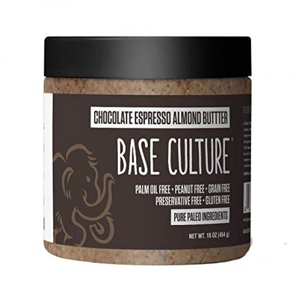 Base Culture Almond Butter | All Natural 100% Paleo Certified, G...