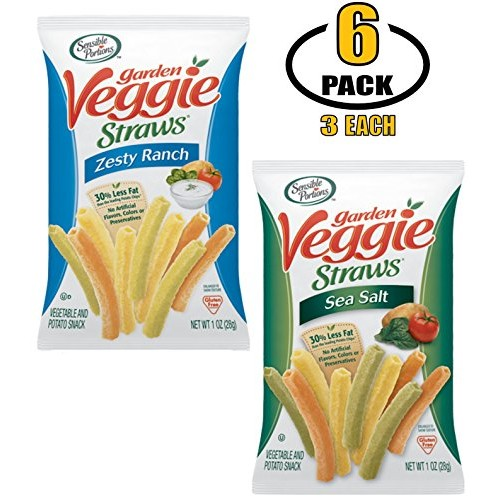 Sensible Portions Veggie Straws - Vegetable Chips in Individual ...