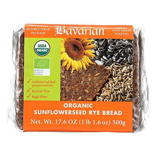Genuine Bavarian Organic Sunflower Seed Rye Bread, 17.6 Ounce - ...