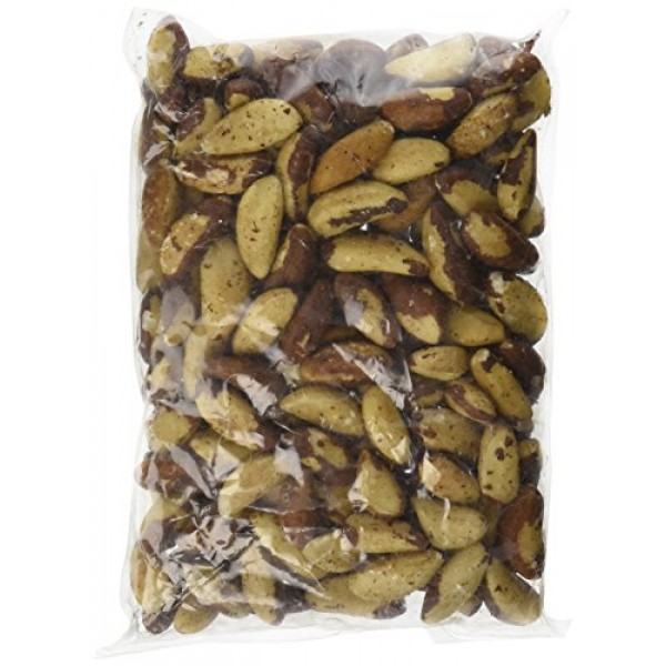 Raw Whole Brazil Nuts, 1LB by Bayside Candy
