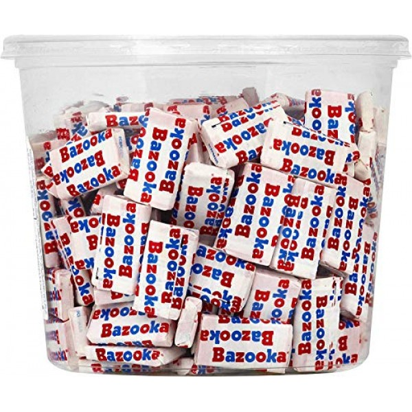Bazooka Individually Wrapped Bubble Gum, Original Flavor, Nostal...