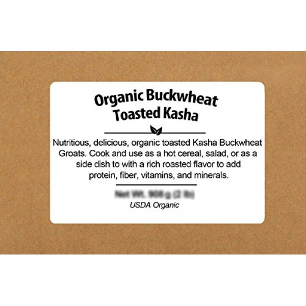 Be Still Farms Organic Buckwheat Toasted Kasha 2lb Toasted Buc...