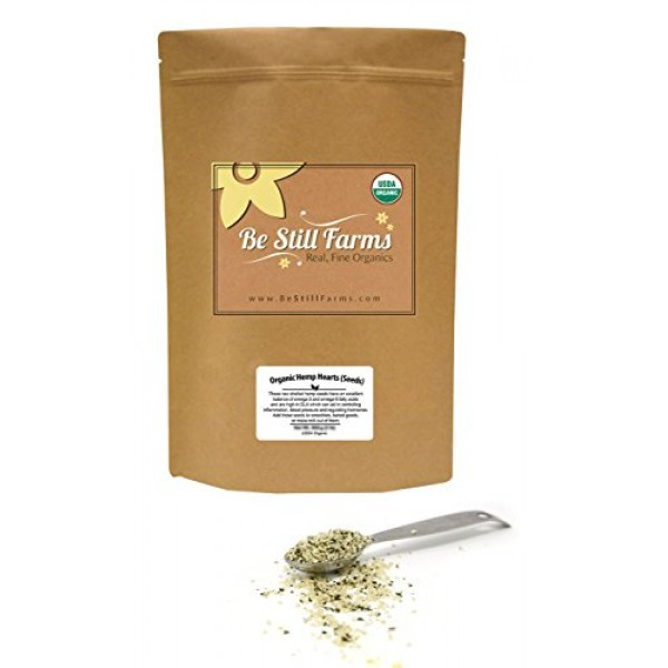 Be Still Farms Organic Hemp Seeds 1lb Organic Hemp Hearts Seed...