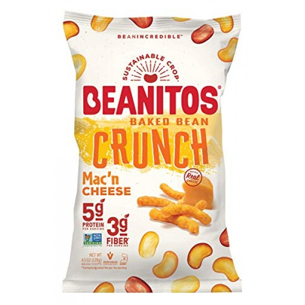 Beanitos Baked Crunch Mac n Cheese, The Healthy, High Protein, ...