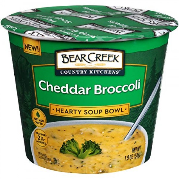 Bear Creek Hearty Soup Bowl, Cheddar Broccoli, 1.9 Ounce Pack o...