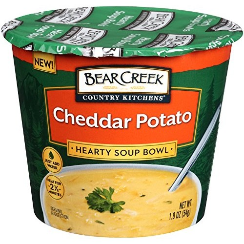 Bear Creek Hearty Soup Bowl, Cheddar Potato, 1.9 Ounce Pack of 6