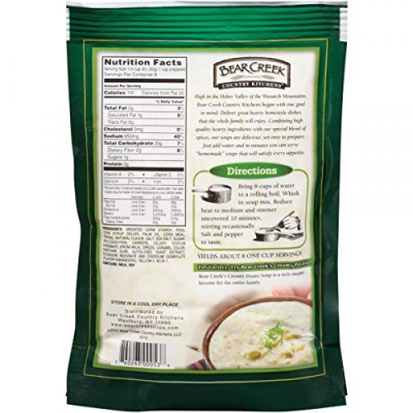 Bear Creek Soup Mix, Split Pea, 8.8 Ounce Pack of 6