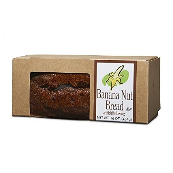 Banana Nut Bread, Traditional American Recipe, Moist with Fine W...