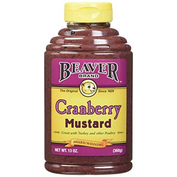 Beaver Cranberry Mustard, 13 Ounce Squeeze Bottle