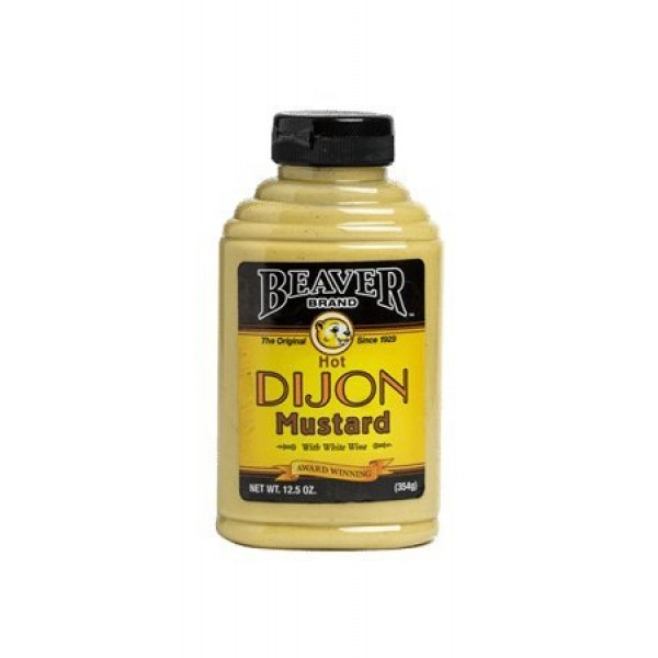 Beaver Dijon Hot Mustard with Wine, 12.5 Ounce Squeeze Bottle