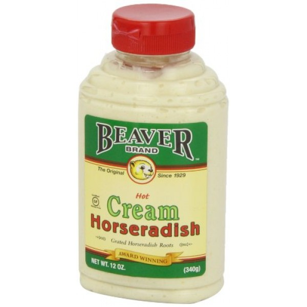 Beaver Hot Cream Horseradish, 12 Ounce Squeeze Bottle