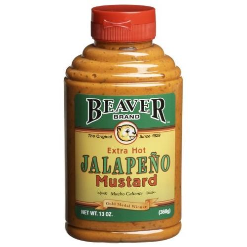 Beaver Jalapeno Mustard, 13 Ounce Squeeze Bottle
