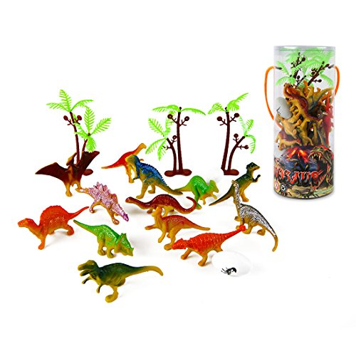 Mini Dinosaur Toy Set (35 Piece), Plastic Assorted Dinosaur Figu...